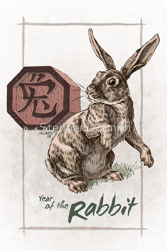"""""""Chinese Zodiac - Year of the Rabbit"""" by Stephanie Smith   Redbubble"""
