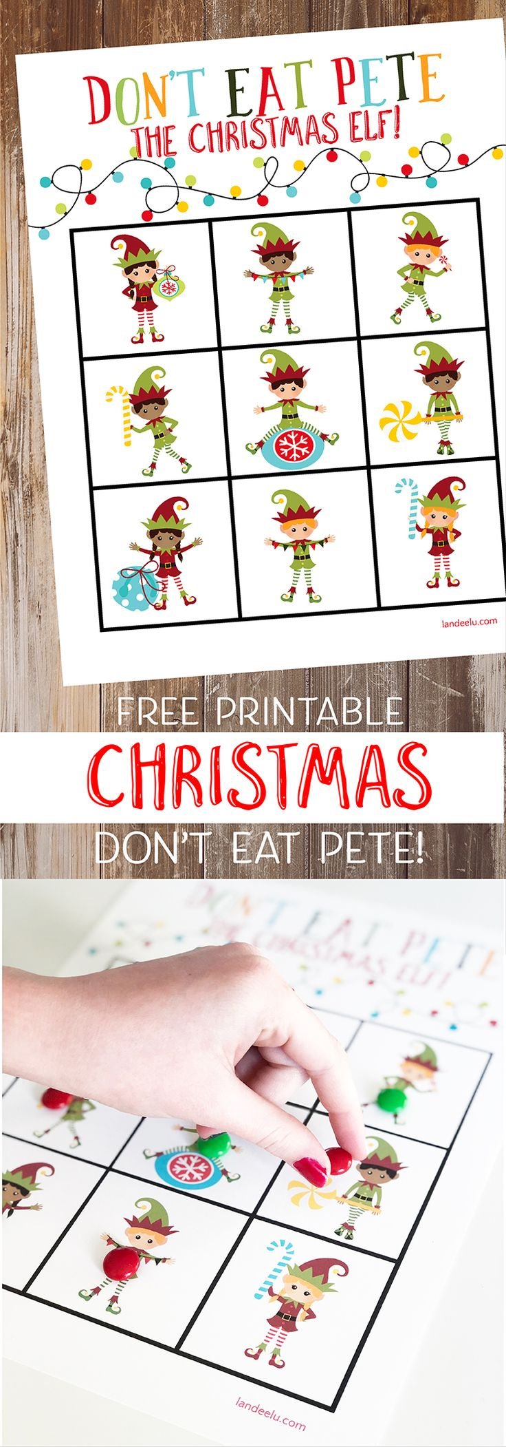 Looking for fun family Christmas games?  Download and print out this darling Ch...