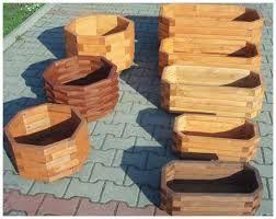 Znalezione obrazy dla zapytania doniczki z drewna