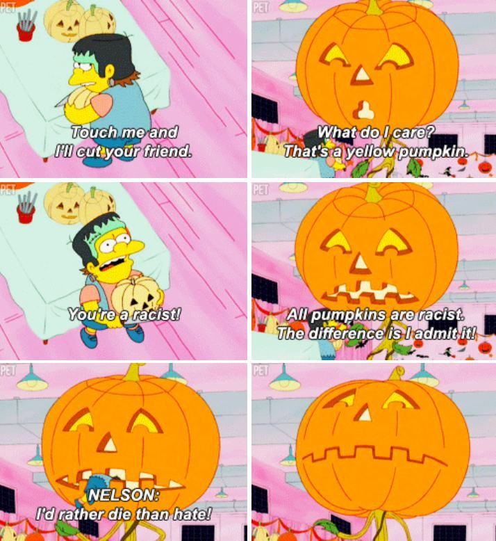 Halloween is a special time in Springfield. Here is just a handful of the ghoulishly great moments from all the Treehouse of Horrors over the years… [h/t fyspringfield & mysimpsblog] Previously: 28 Funny Products Spotted on The Simpsons
