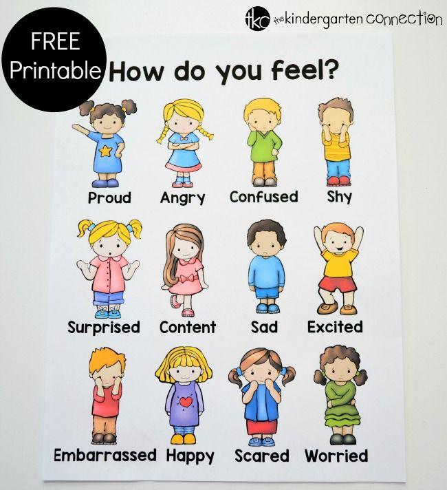 Emotions and Feelings Free Printable