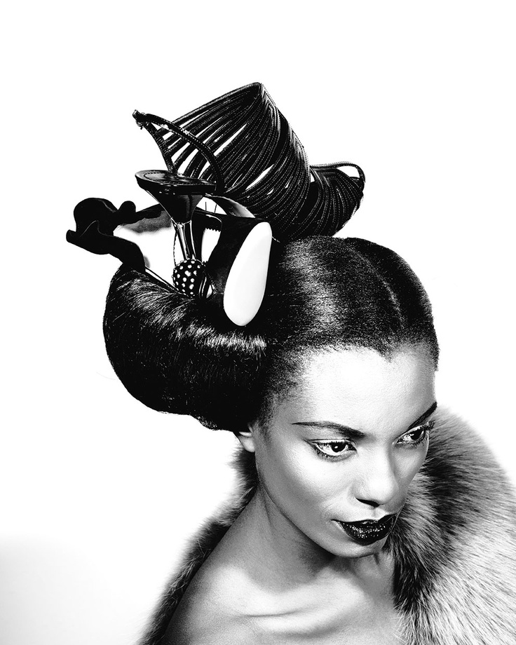 Women's obsession with beauty and design is always depicted in their Hair and their collection of footwear.  Intercoiffure Duo, Stoffel van Wyk and Donavan Grove were approached by Wanted Magazine to fuse these two elements together creating an indulgent celebration of haute couture, hairstyles and hedonism.