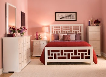 mayville 5 pc queen bedroom set. his perspectives 4-pc. queen bedroom set seamlessly blends the best elements of asian mayville 5 pc