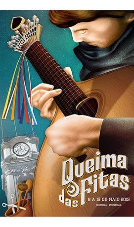 Lema e cartaz da Queima das Fitas de Coimbra apresentados