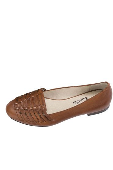 Buy Sandler Casual Flat With Weaved Vamp - Theory | Shop Shoes Womenswear at the BrandStore EziBuy NZ