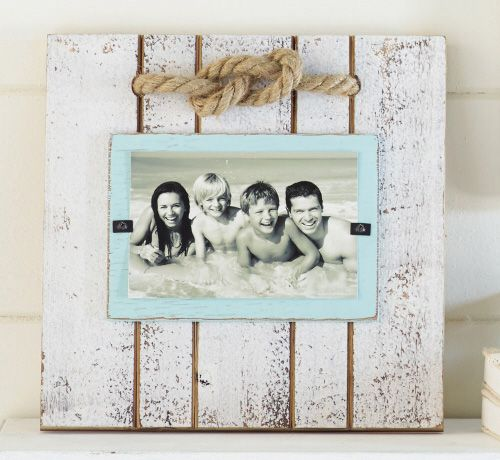 Reclaimed wood planks are hand painted to create our for Bungalow style picture frames