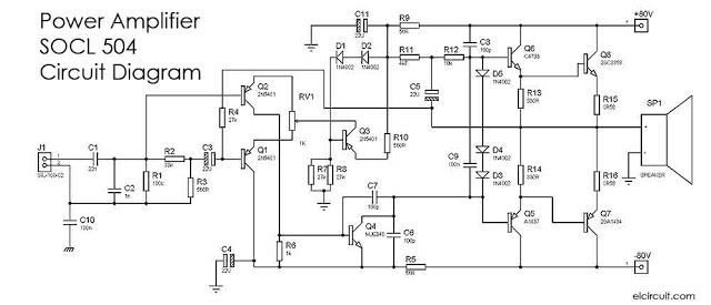 500w 2000w Power Amplifier Socl 504 Power Amplifiers Circuit Diagram Audio Amplifier