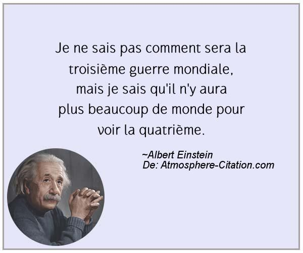 Citation de Albert Einstein - Proverbes Populaires