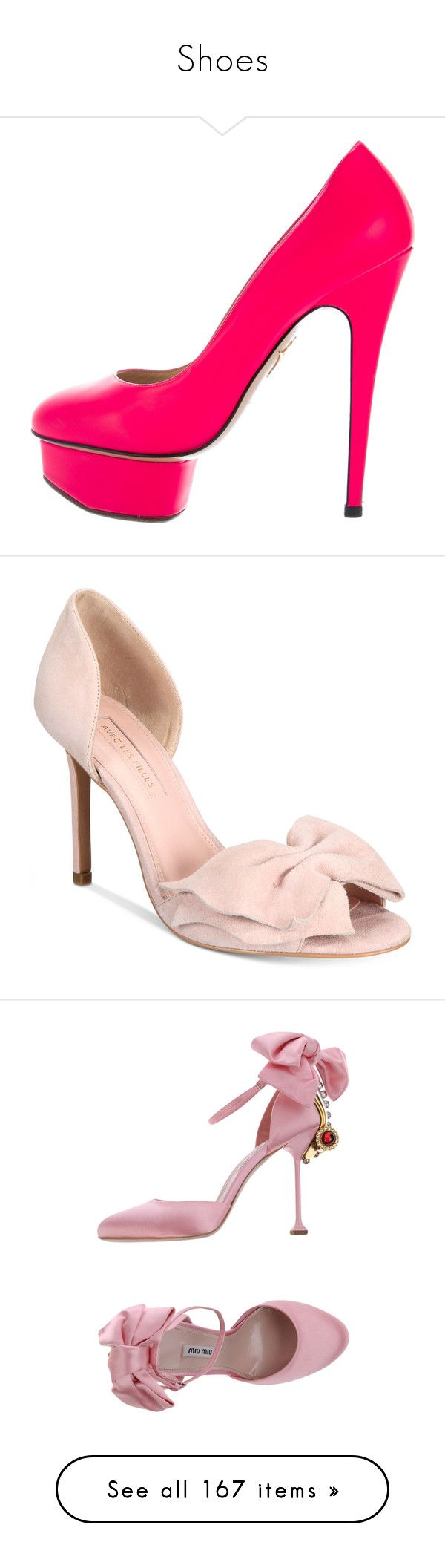 """""""Shoes"""" by lauren-mcauliffe14 ❤ liked on Polyvore featuring shoes, pumps, pink, pink platform pumps, neon pink pumps, neon pumps, leather pumps, leather shoes, avec pink kid suede and suede pumps"""
