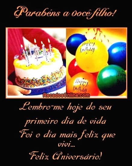 Feliz Aniversário Filho Imagem 8 Cumpleaños Feliz Videos