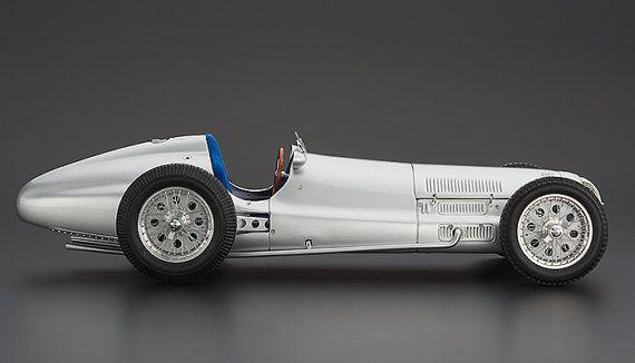 1938 Mercedes Benz W154 Vintage Diecast Metal Model 1/18 scale toy car leman race German France CMC Handmade