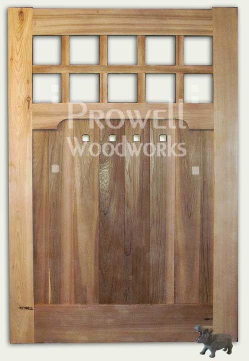 Wood Gate #93 by Charles Prowell Woodworks