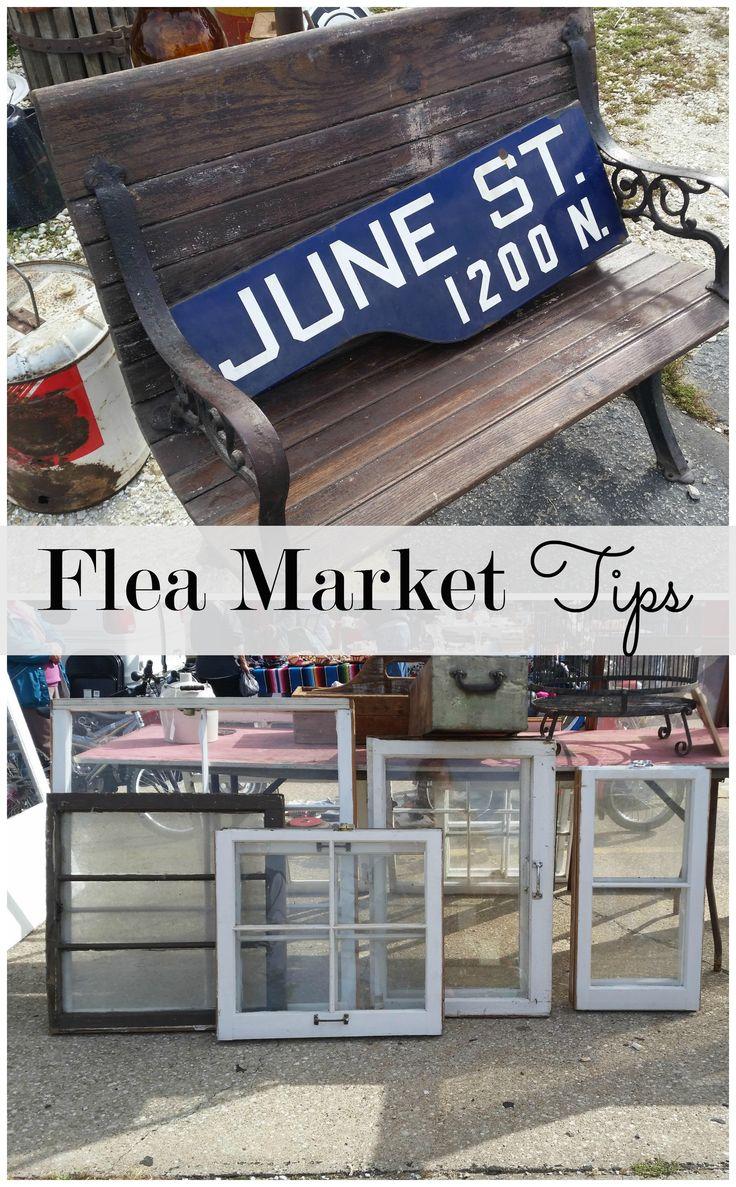 Flea Market Shopping Tips www.littleglassjar.com