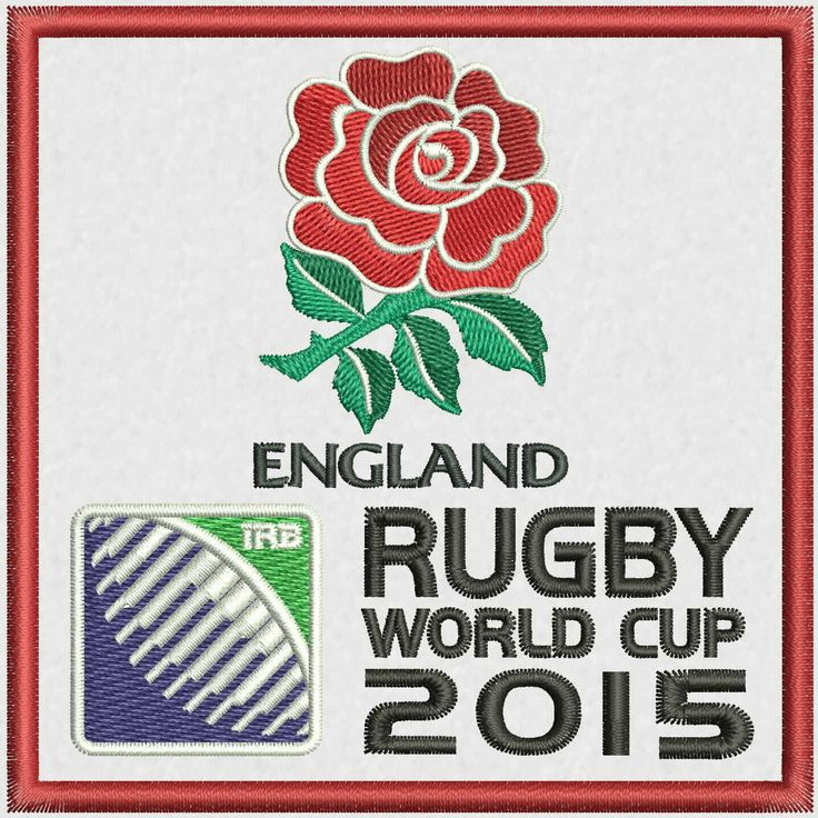 """Red Rose England Rugby Team Logo Embroidery Design  4""""x4"""" and 5""""x7"""" by StudioEmbroideryShop on Etsy https://www.etsy.com/listing/527174737/red-rose-england-rugby-team-logo"""