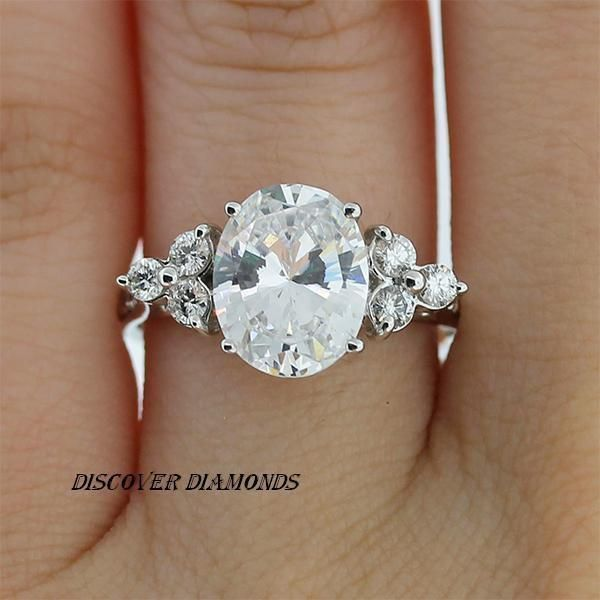 14k Solid White Gold 1.10Ct Oval Cut Diamond Solitaire Engagement Ring Certified #discoverdiamonds #SolitairewithAccents #Engagement #diamondsolitairering #solitairering #solitairediamondring #solitaireengagementring