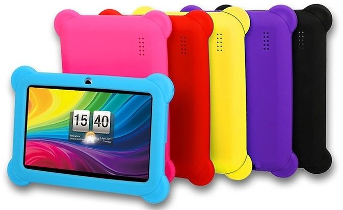 """DX758 8GB 7"""" Kids' Tablet with Android OS, Protective Case, Stylus, Carrying Pouch, and Screen Protector"""