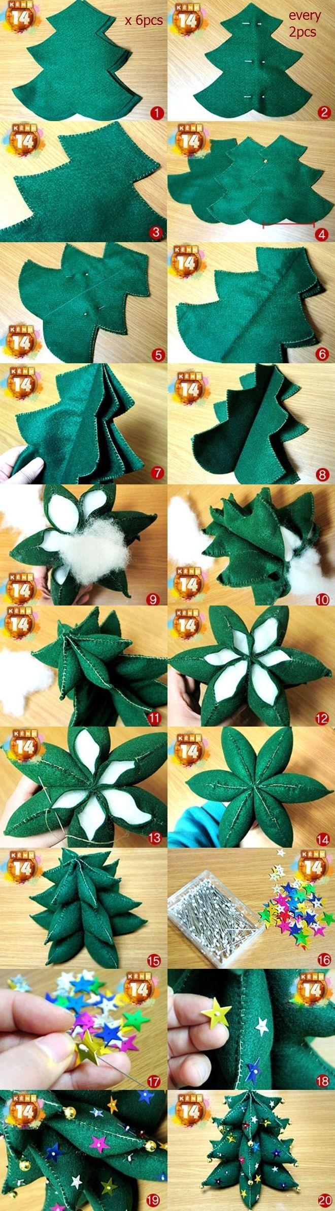Felt árbol de navidad Combinado: Más