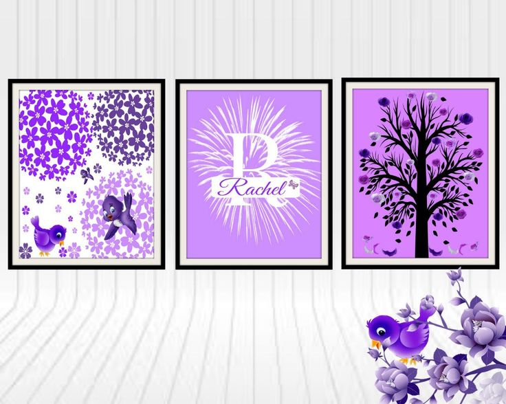 New to LoriJDesigns on Etsy: Purple nursery | baby girl wall decor| kids wall art | nursery girl | toddler room decor (19.99 USD)