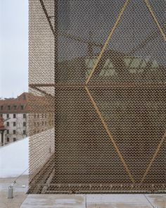 metal facade -The Jewish Center in Munich / Wandel Hoefer Lorch + Hirsch