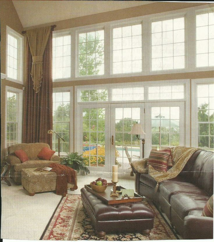 Suggested window treatments for the tall windows on either for Blinds for tall windows