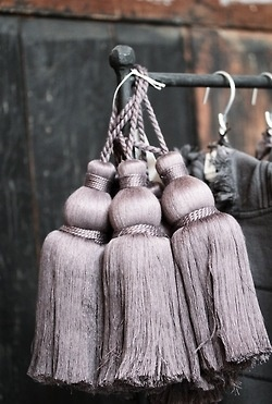 Muted Riche: glamorous tassels. via Blossom® inspiration from blossomgraphicdesign.com boards