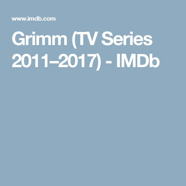 Grimm (TV Series 2011–2017) - IMDb