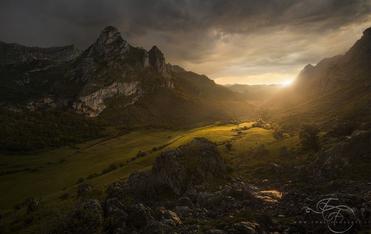 Valley of endless light Hello, everybody! Finally, after a quite long pause, I am back. Between various commitments recently I had really few free time for my art. Did you think that the epicness was over? :D A beautiful and dramatic sunset with my buddy Arturo Solís in the majestic Picos de Europa during my visit the last spring. Was a stormy night after a very warm day, shooting under the rain is always so rewarding. Soon I will announce some news so stay tuned on my website…