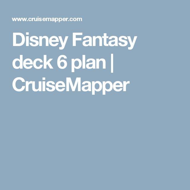Disney Fantasy deck 6 plan | CruiseMapper