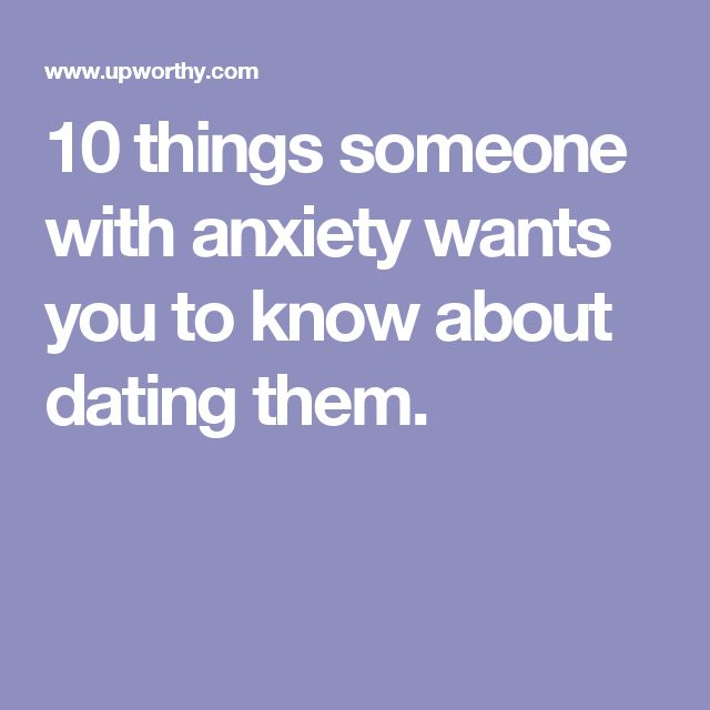 Dating a person with anxiety