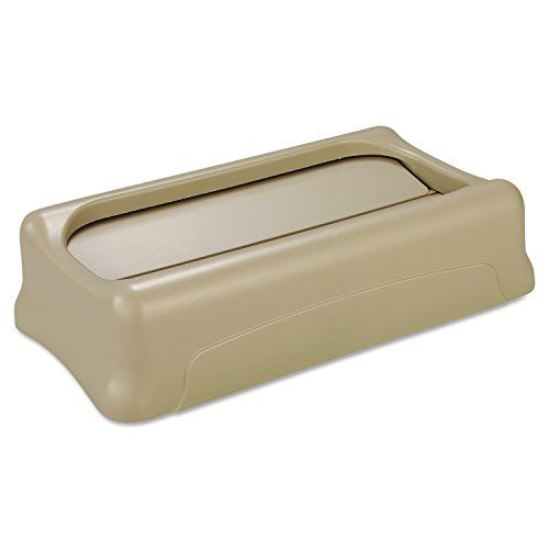 #manythings #Rubbermaid #Commercial FG267360BEIG Swing Lid for Slim Jim Containers, Beige. Swing top provides easy access for trash disposal and then swings back ...