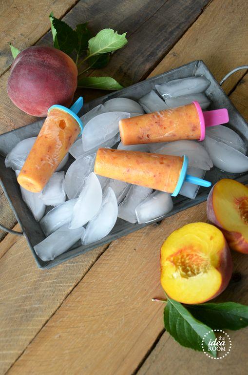 Fresh Peach Popsicles Recipe | theidearoom.net