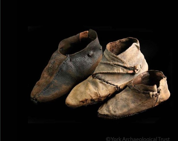 Viking shoes. York Archaeological Trust.