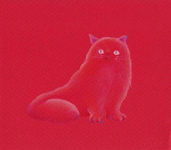 CUTE画「赤色猫」[針間直美] | ART-Meter