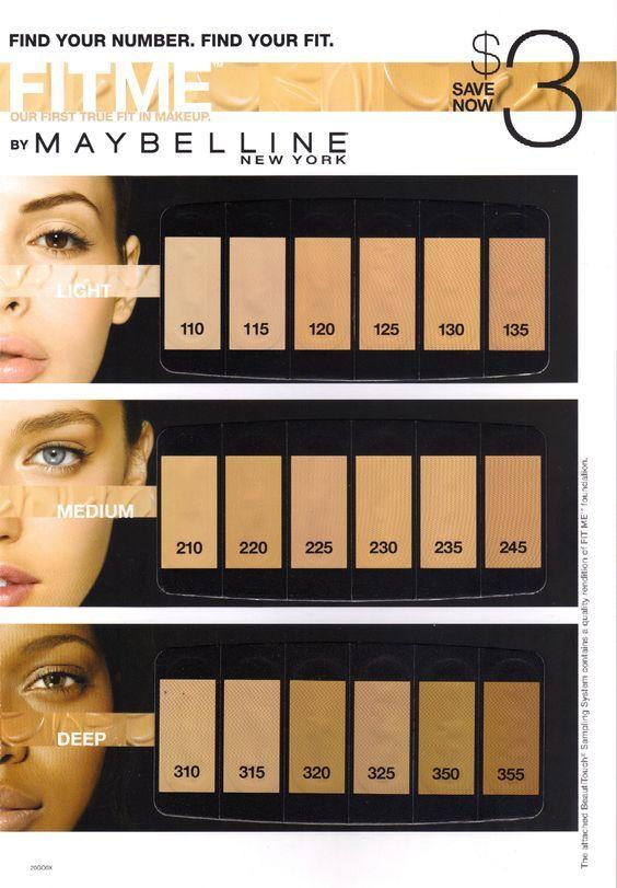 Maybelline Fit Me foundation range: