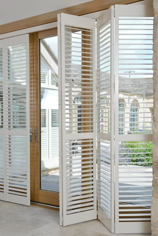 Tracked Full Height Window Shutters Are Perfect For Your Patio Doors