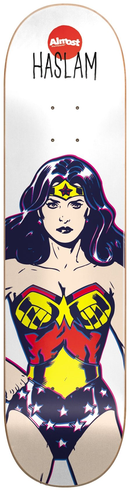 Almost Wonder Woman R7 Skateboard Deck - Haslam 8.38"
