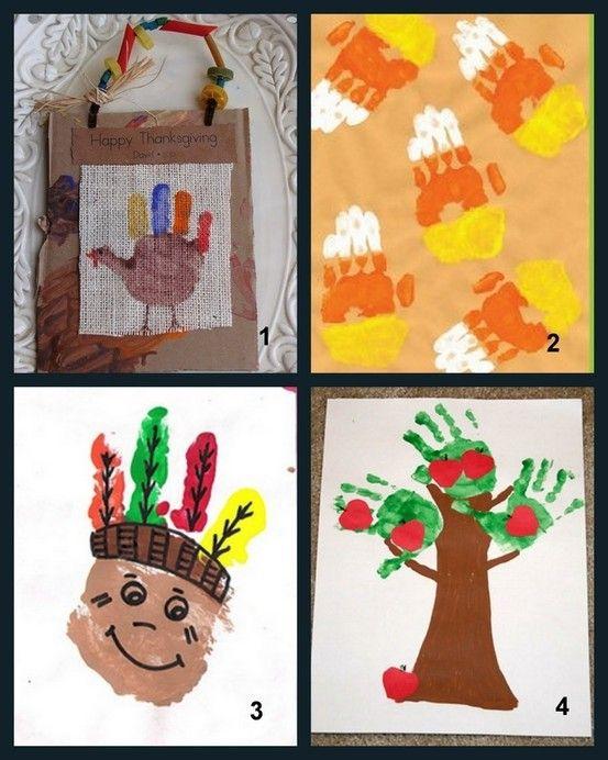 2014 Creative Handprint Thanksgiving Crafts
