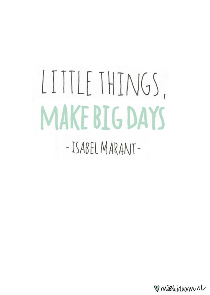 ≡ Little things