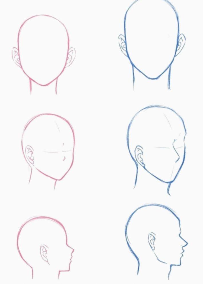 10 Anime Face Base Male Anime Drawings Tutorials Manga Drawing