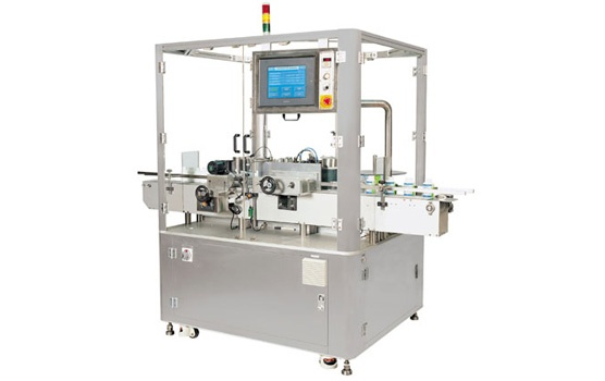This automatic and high speed vertical linear sticker labeling machine is capable of labeling 100 labels on flat,oval,square and round vials or bottles per minute.