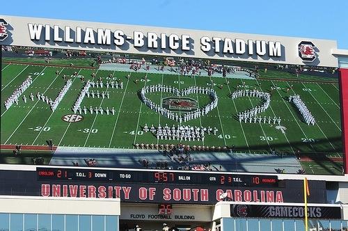 Carolina Band tribute to Marcus Lattimore during the South Carolina v. Arkansas game.