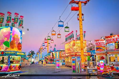 South Florida Fair Sky Lift and Food Stand