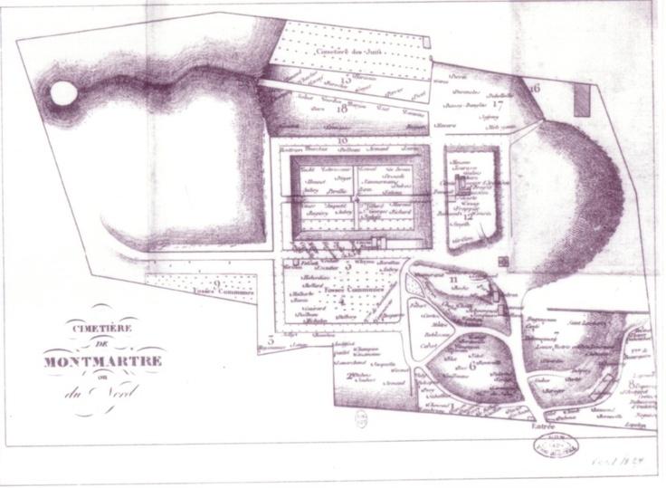 cimetière de Montmartre, plan