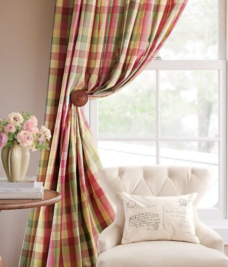 Pinterest Country Curtains Country Curtains Moire Plaid