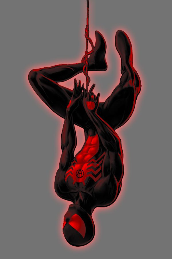 spiderman black and red - 600×900