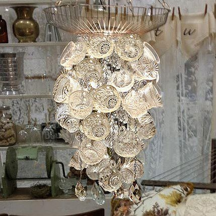 LIGHT: Punch Bowl Cup Chandelier.