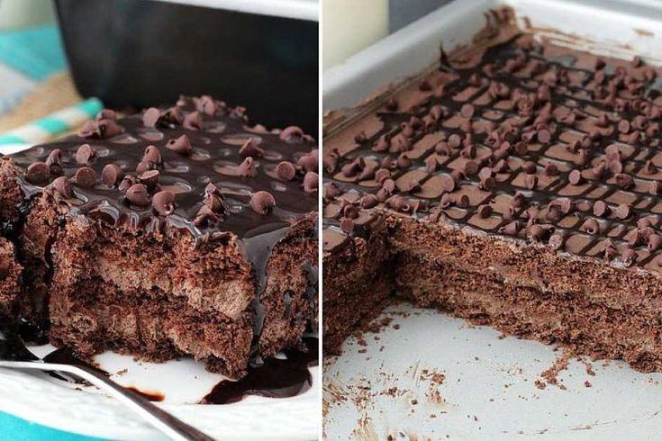 Nepečené čokoládové rezy s tromi druhmi krémov