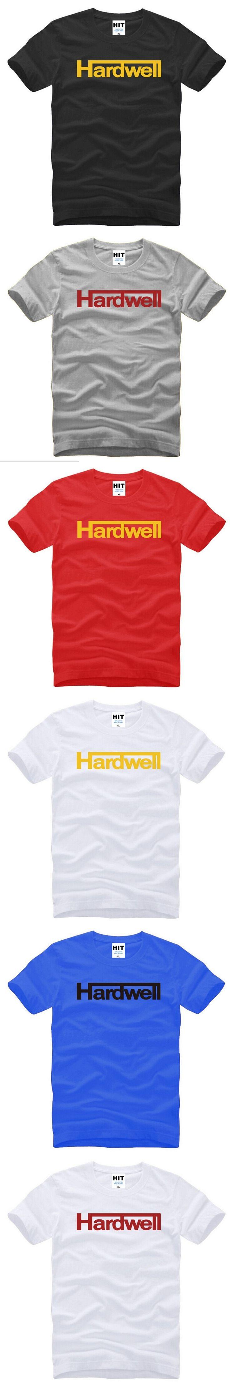 Hardwell Rock Band T Shirts Men Hip Hop O Neck Leisure T-shirt Music Fans Clothes Vegas Rage DJ Club Life Plur Edm Edc Tshirt