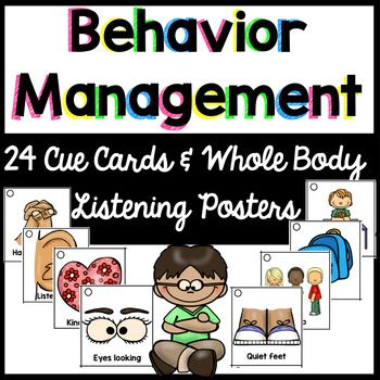This product includes 24 cue cards that can be hole punched and worn on your lanyard. These cue cards are perfect for behavior management for any class, including students with autism! Cue cards with just picture and cue cards with words and pictures are included so that you can choose what works best for you!