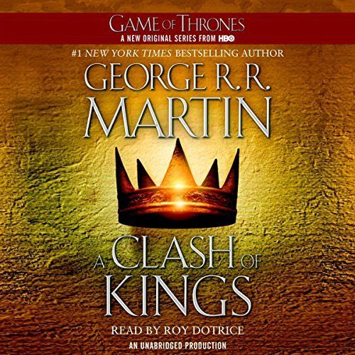 "Another must-listen from my #AudibleApp: ""A Clash of Kings"" by George R. R. Martin, narrated by Roy Dotrice."